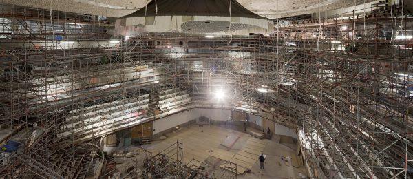 Einrüstung der Elbphilharmonie