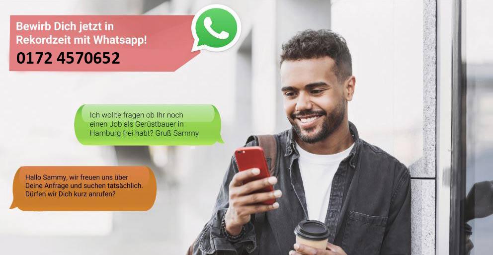 WhatsApp Bewerbung Gerüstbauer