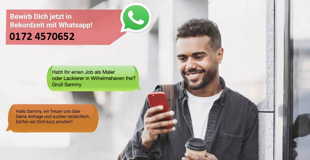 WhatsApp Bewerbung Maler