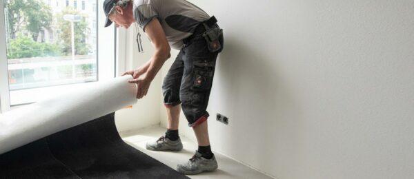 Bodenbelagsarbeiten für ein neues Design-Hotel