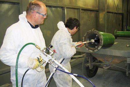 Stationäre und mobile Korrosionsschutzlösungen für Rohrinnenbeschichtungen