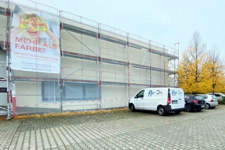 Neue Fassadenbeschichtung für Gewerbekomplex