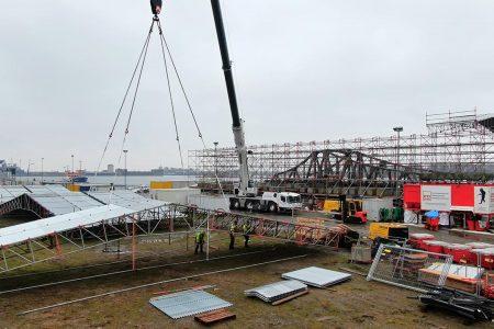 Gerüstbau - Einhausung Drehbrücke