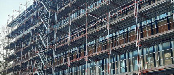 Blitz Gerüst als Rahmensystem für Fassadengerüst